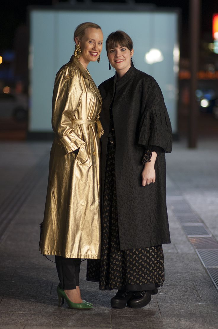 Alison & Nadia #streetstyle from MBFF - Pic by Ruby Reginato what they are wearing http://www.steelemystyle.com/2014/09/03/spotted-streetstyle-mbff/