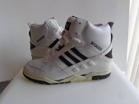 a5b2c0cdec280 Vintage. 90s. Skyjacker. Shoes. Vintage. 1990s. Mens US 6. Womens US 8. UK  5.5. Sneakers. Leather. Rare. High Top. 90s