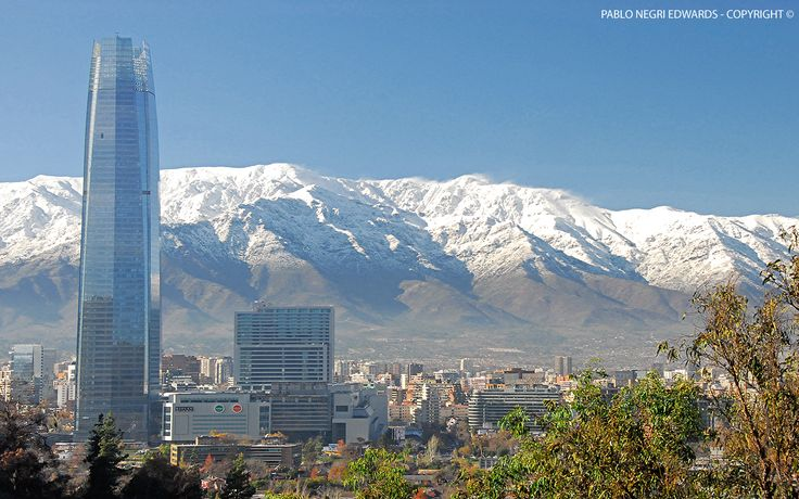 """The Beautiful """"Gran Torre Santiago"""" @ Costanera Center, Santiago in Chile is 300 Meters/980 Feet Tall Making It South America's Tallest Building (Still In Construction) - May 30, 2013 [Photography: Pablo Negri Edwards - Copyright ©]"""