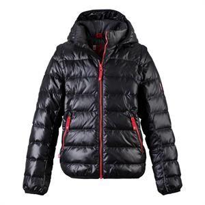 Vinterjakke i sort med dunjakke fra Reima - Model: Shaula.