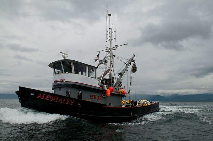 Commercial fishing boat in Alaska. Via Madador.