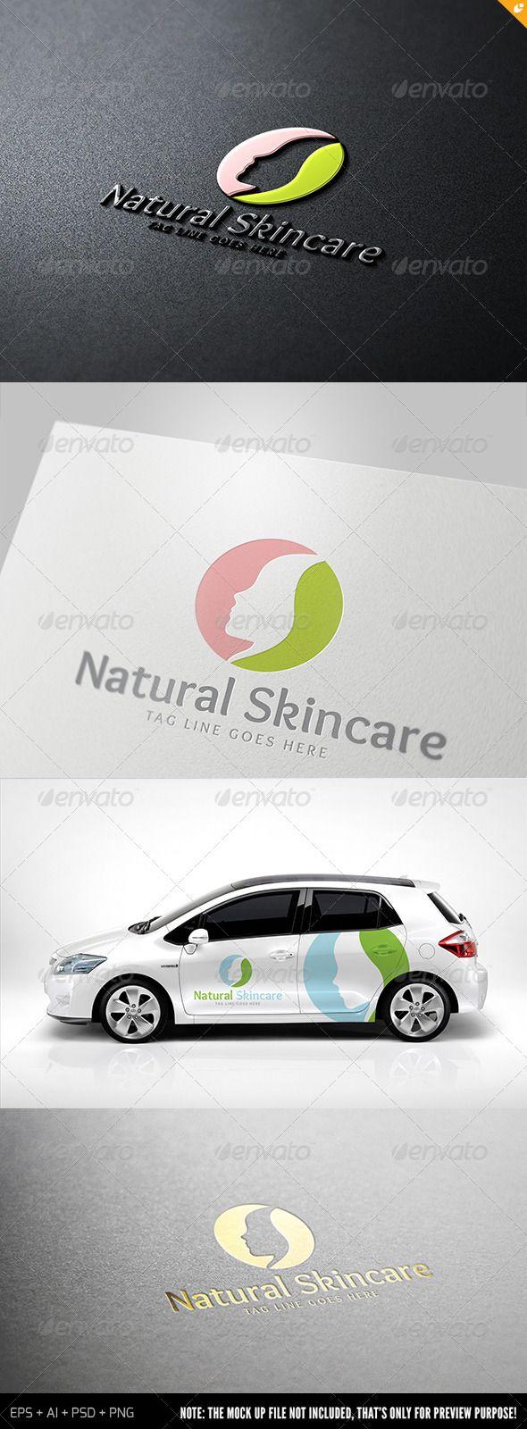 Natural Skincare Logo Design Template Vector #logotype Download it here: http://graphicriver.net/item/natural-skincare-logo/7087414?s_rank=221?ref=nesto