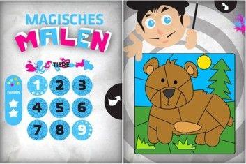 Magisches Malen | Malen nach Zahlen App für Kinder