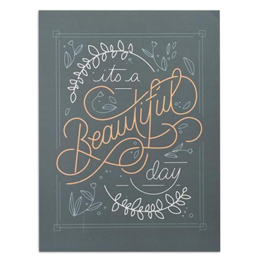 "Beautiful Day 12"" x 16"" Print"