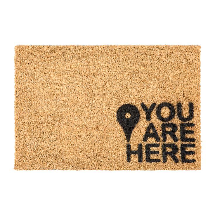 Discover the Artsy Doormats You Are Here Door Mat at Amara