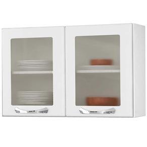 Armário Itatiaia Premium c/ 2 Portas de Vidro Branco - Cozinha Modulada no Extra.com.br