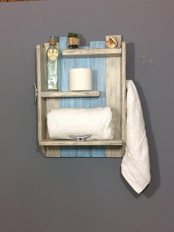 Beach Bathroom Wood Shelves Reclaimed Wood Shelf Nautical Etsy Bathroom Wood Shelves Wood Bathroom Nautical Shelves