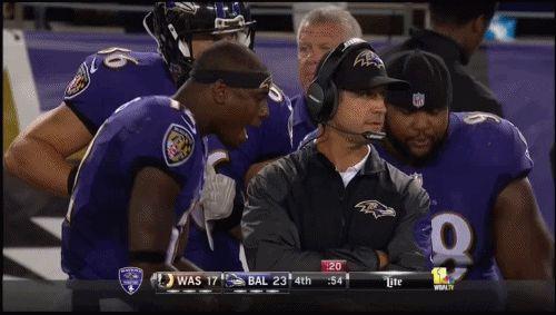 Baltimore Ravens News | GIF: Ravens Players Party Behind John Harbaugh