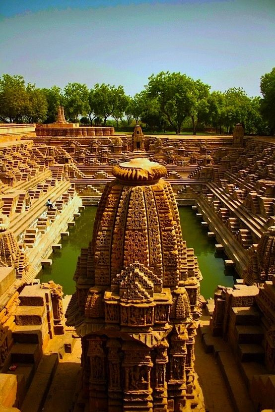 Modhera Sun Temple, Gujarat, India - The Sun Temple, Modhera, at Modhera in Gujarat, is a temple dedicated to the Hindu Sun-God, Surya. It is situated on the bank of the river Pushpavati, 25 km from Mehsana and 102 km from Ahmedabad. It was built in 1026 AD by King Bhimdev of the Solanki dynasty. In the present times, prayers are not offered in this temple.- Exquisite Planet