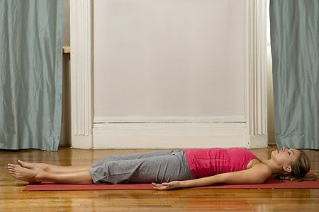 corpse pose savasana from a sitting position with your