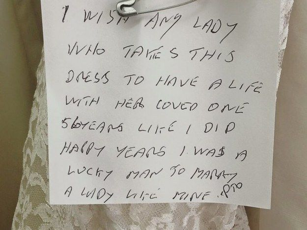 Nice A Heartbreaking Note Attached To A Donated Wedding Dress Just Went Viral