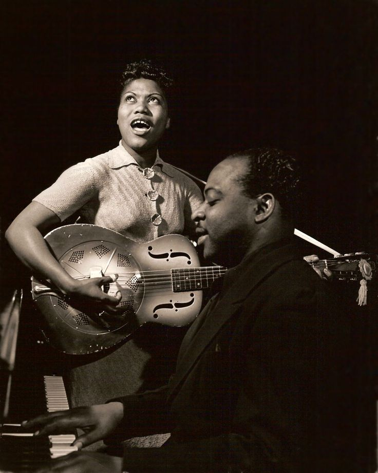 Sister Rosetta Tharpe with Jazz piano legend Count Basie in the early 1940s.