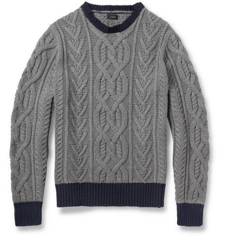 Cable knitted shirt