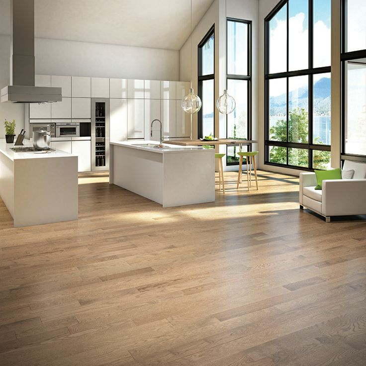 Mercier Wood Flooring, Design+ Program, Red Oak, color Shadow. http://www.mercier-wood-flooring.com/