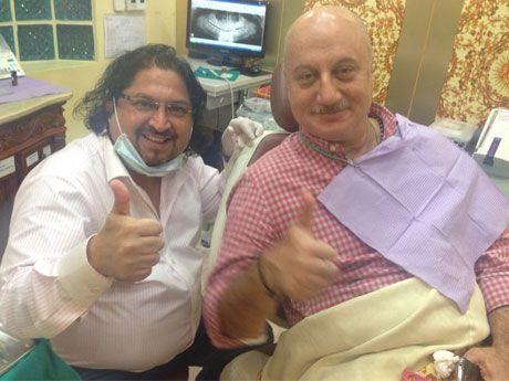 #AnupamKher with Dr. Sunil Phol at Dr. Sunil International Dental Clinic in Bangkok, Thailand