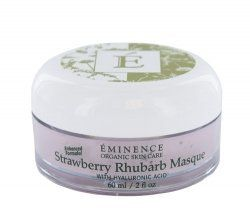 Strawberry Rhubarb Masque with Hyaluronic Acid by Eminence Organic Skin Care. Save 7 Off!. $48.56. Plump and replenish skin for a renewed youthful flush wih juicy strawberries  calming rhubarb and restoring hyaluronic acid. Moisture is returned when these ingredients hydrate and penetrate the deepest layers of your skin while salicylic acid found in refining strawberries gently exfoliates and ensures an overall refreshed appearance and beautiful sweet cheeks.   Skin Type:  Normal...