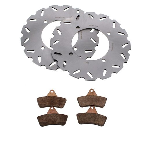 2001 - 2004 Arctic Cat 250 4X4  Front RipTide Rotors and Severe Duty Brake Pads