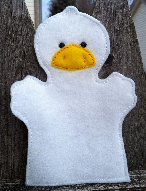 Duck Farm Animal Felt Hand Puppet KiD SiZe by ThatsSewPersonal, $7.50