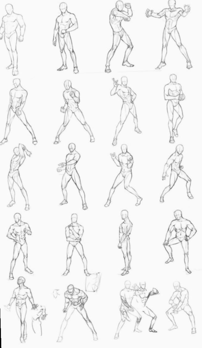 19 Anime Poses Male Action Drawing Poses Male Drawing Poses Art Reference Poses