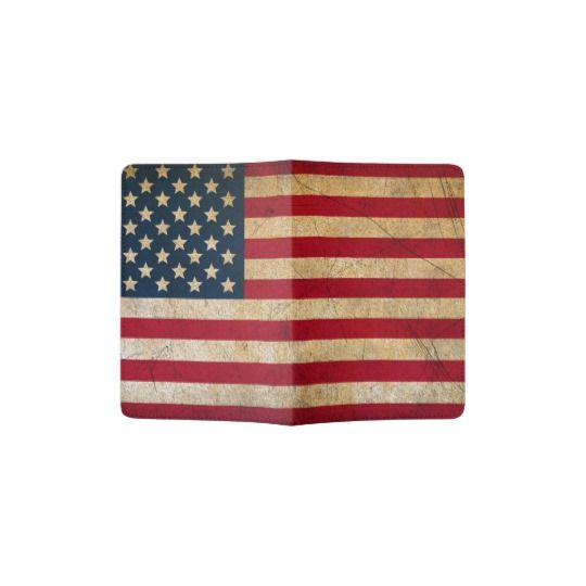 Vintage American Flag Passport Holder
