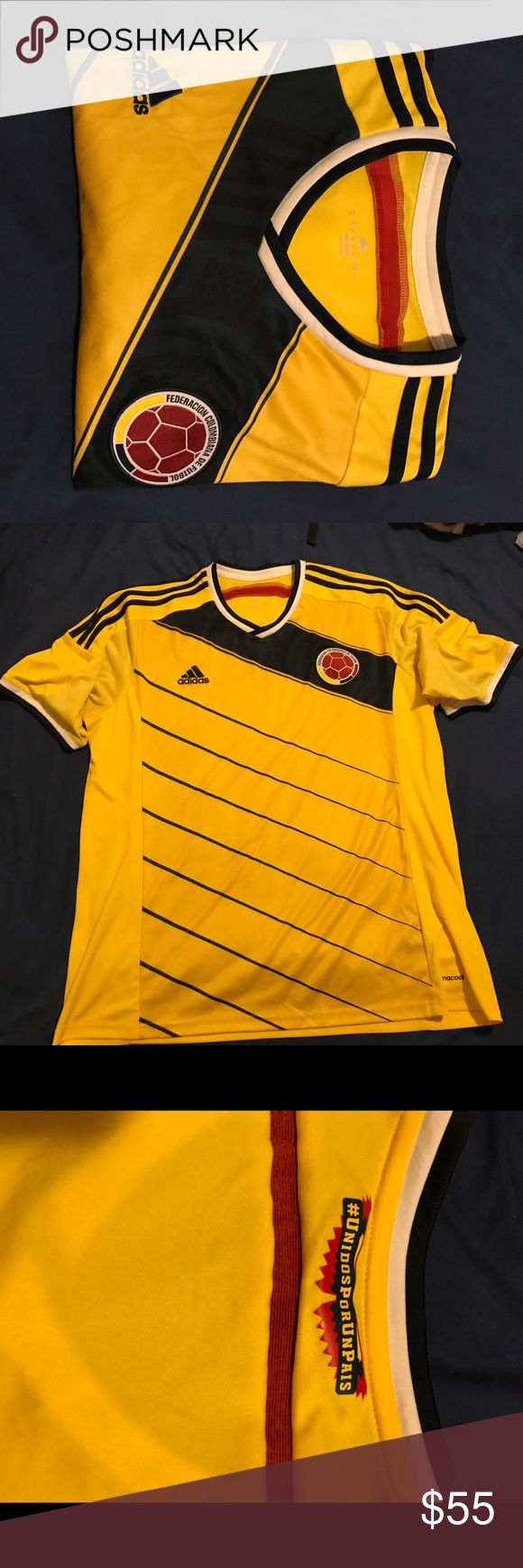 Colombia home jersey Selling an authentic adidas Colombia home jersey from 2014-2015 season size XL. Worn once adidas Shirts