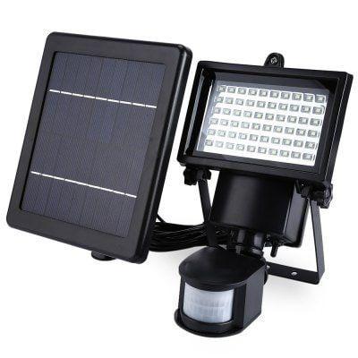 Lampada de segurança SL - 60 LED, Solar Sensor Dia Noite