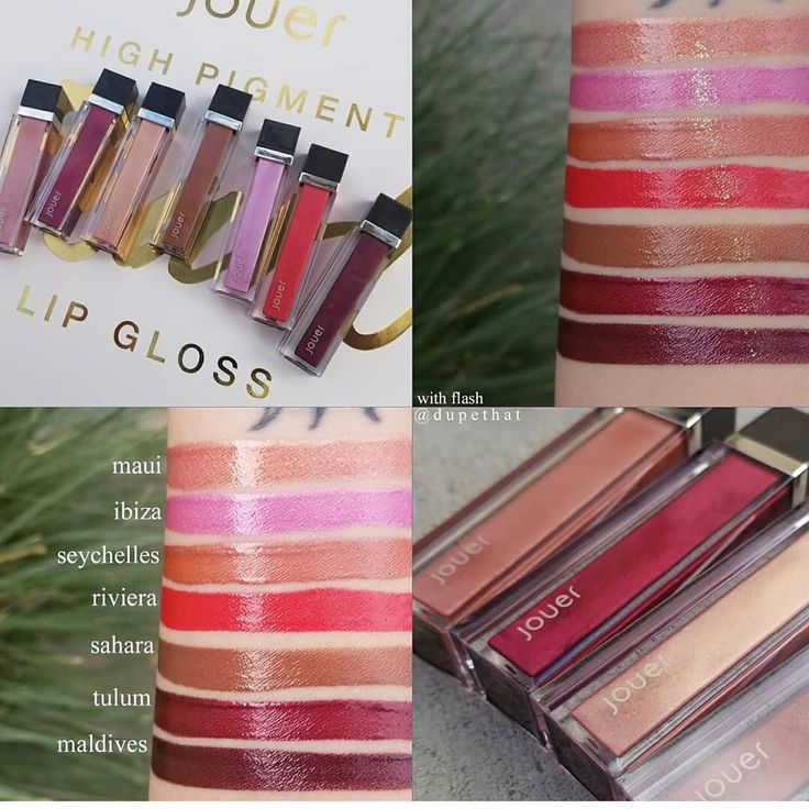 Early access!! .  BRAND NEW From @jouercosmetics  High Pigment PEARL Lip Gloss . Available now on #Jouer website & soon @ other e-tailers  @beautylish @cultbeauty . .  NEW SHADES  NEW FORMULA with Coconut Oil   . SHADES: Maui - warm peach pearl  Seychelles - warm muted coral pearl  Sahara - warm cocoa bronze pearl Riviera - warm coral red pearl Tulum - warm black cherry pearl Maldives - cool blackberry pearl Ibiza - cool baby pink pearl . . $17.00 each . 15% OFF CODE  DUPETHAT . This…
