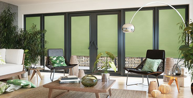 2018 is still seeing the growth of the tropical trend, be inspired by these Perfect Fit Blinds in Lina Spring Mist available at EK Shutters & Blinds.  #perfectfit #blinds #conservatory #bespoke #tropical #trend #2018
