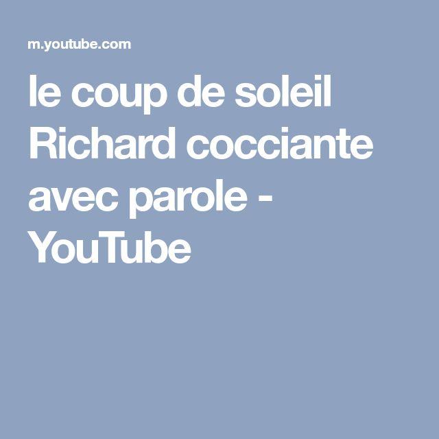 le coup de soleil Richard cocciante avec parole - YouTube