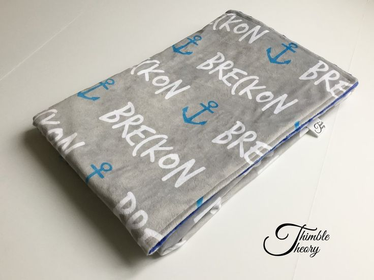 """""""Anchor""""- Personalized Double Sided Minky Blanket"""