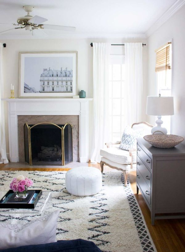 Shoji white is a warm white that looks great in a room with high natural light or shadows. We love this color in nearly every room in our house.