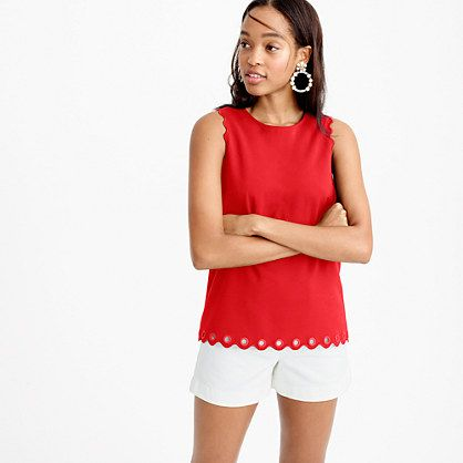 J.Crew - Scalloped top with grommets