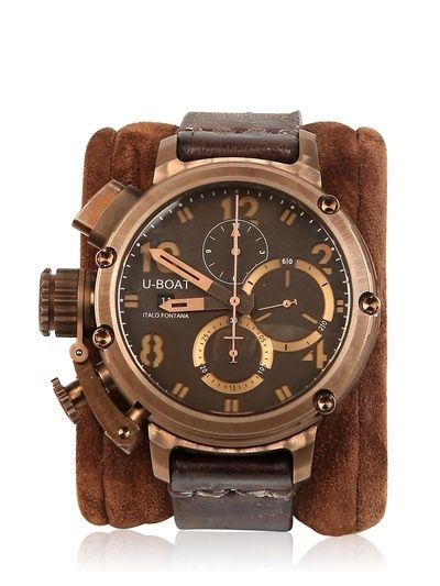 U-BOAT - VINTAGE WATCH - LUISAVIAROMA - FLORENCE - watches for mens, mens waterproof watches, mens gold designer watches