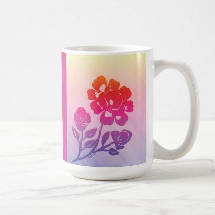 15oz. Tropical Rose Silhouette Coffee Mug | Zazzle.com