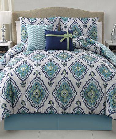 Look what I found on #zulily! Blue Weston Comforter Set #zulilyfinds
