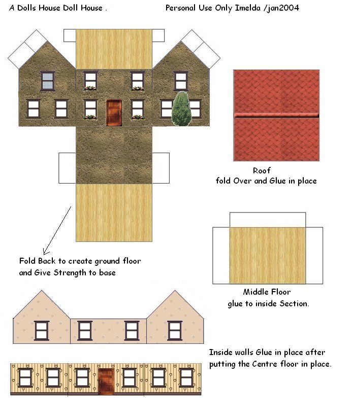 Dollhouse Printables: Paper Houses & Toys