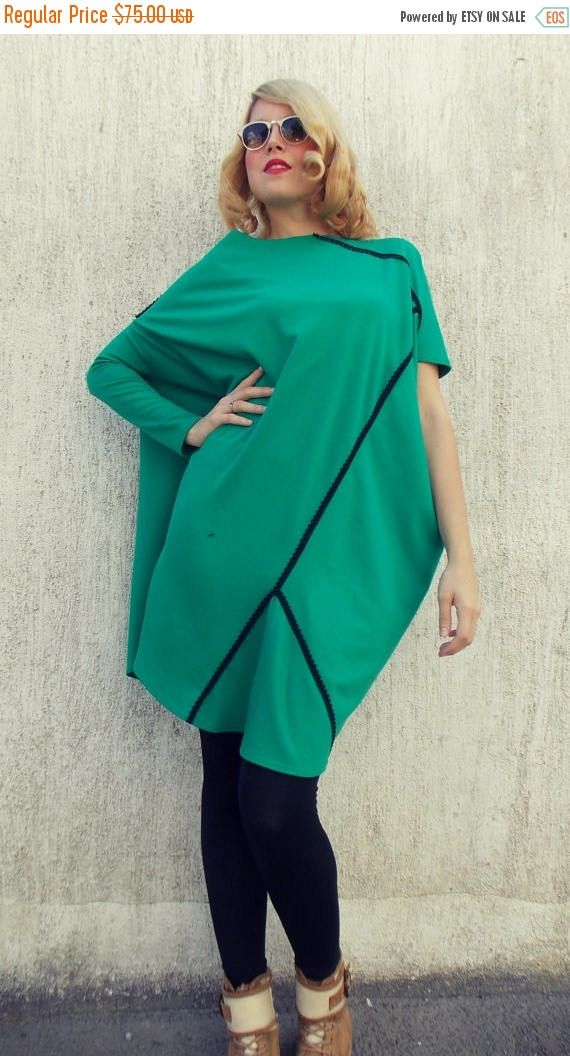 New in our shop! SALE 25% OFF Loose Plus Size Emerald Dress / Asymmetrical Jersey Oversize Dress TDK91 https://www.etsy.com/listing/204829962/sale-25-off-loose-plus-size-emerald?utm_campaign=crowdfire&utm_content=crowdfire&utm_medium=social&utm_source=pinterest