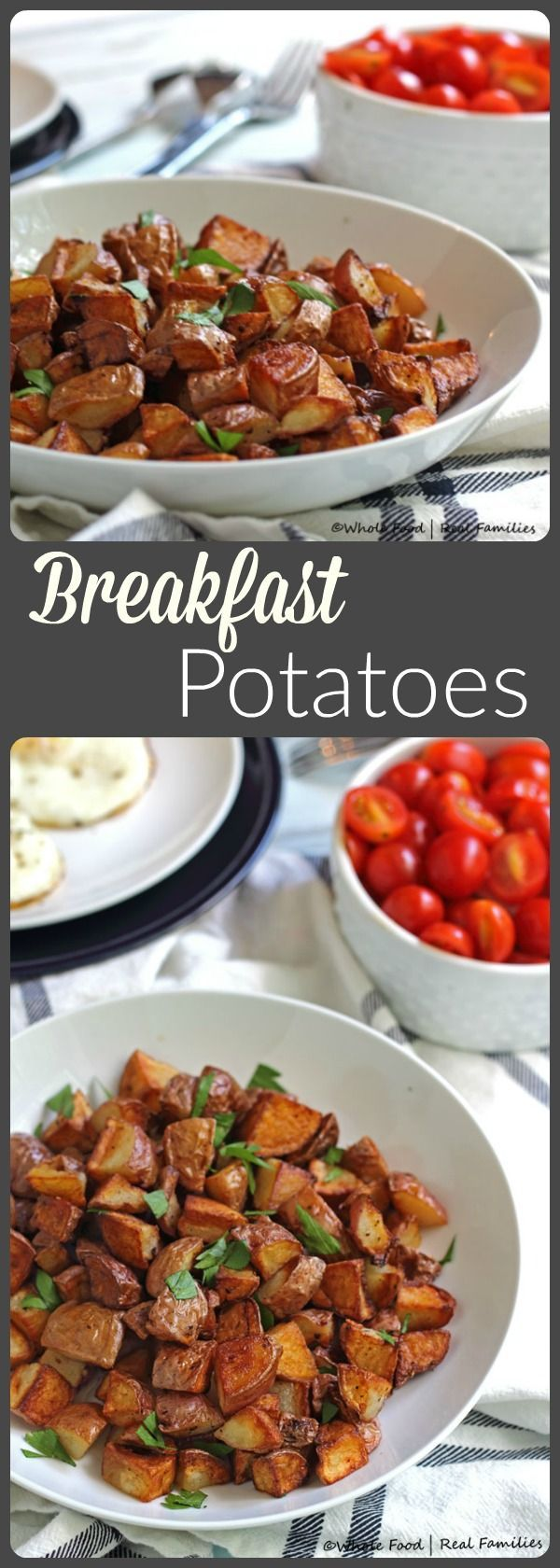 Crispy Breakfast Potatoes. There is trick to getting them soft on the inside and crisp on the outside! @wholefoodrealfa