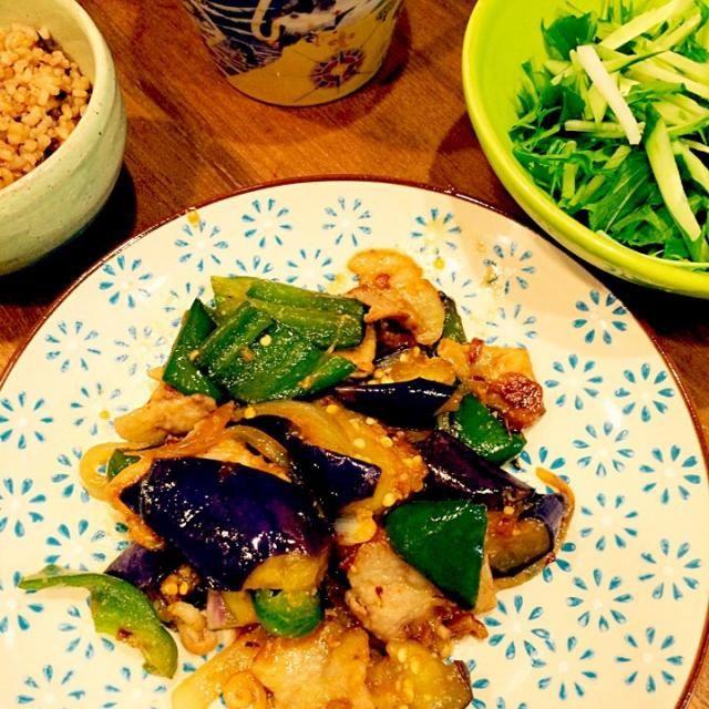 簡単美味しく出来ました〜 - 4件のもぐもぐ - 茄子と豚肉、ピーマンの味噌炒め! by noriko0310