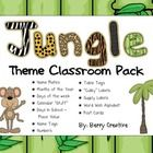 $5. This set was worth it! This is a classroom decoration packet that is in a jungle theme!This 64 page packet includes:NameplatesMonths of the YearDays of the WeekCale...