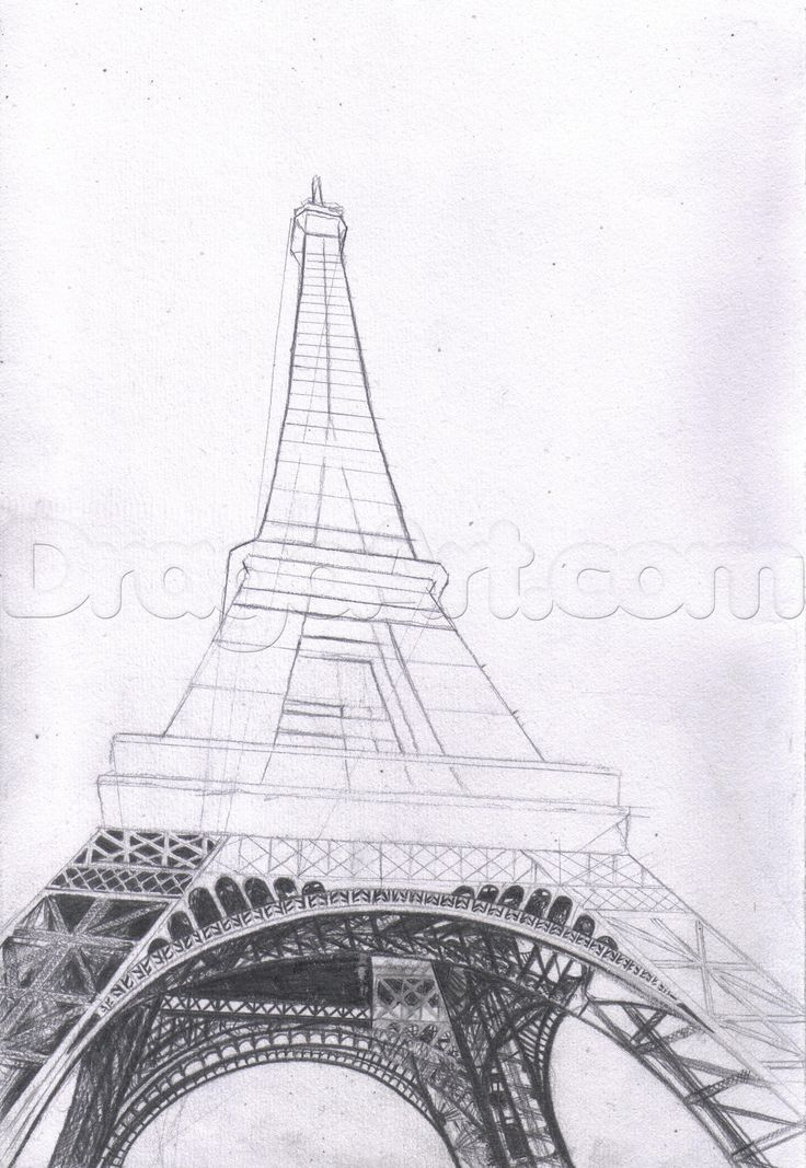 Steps To Eiffel Tower Top : How to draw the eiffel tower step by buildings