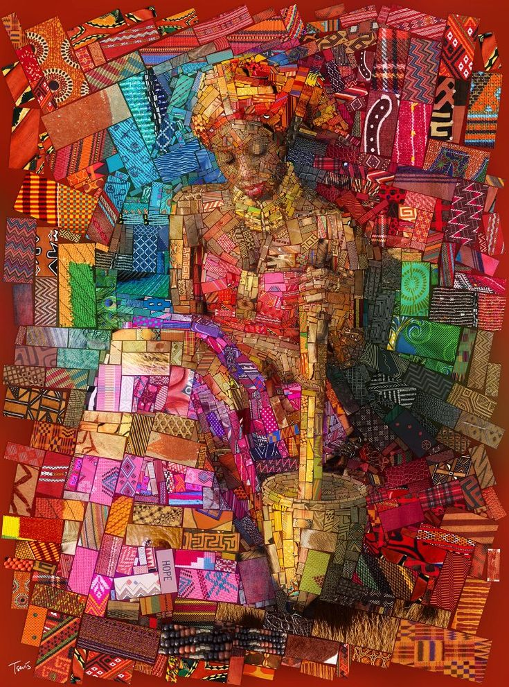 """Image of THE AFRICAN BRICKS """"The Pap lady"""" (Limited edition fine art prints) #mosaic #collage #finearts #artprint #decoration #African #interior #charistsevis #photomosaic"""