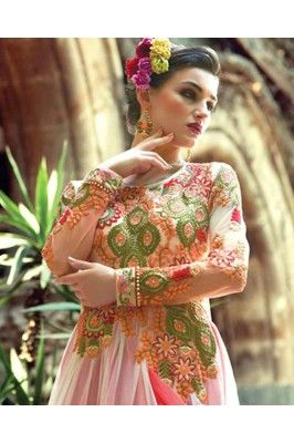 Colorful Anarkali suit to mesmerize the look. Ethnic wear Ethnic fashion