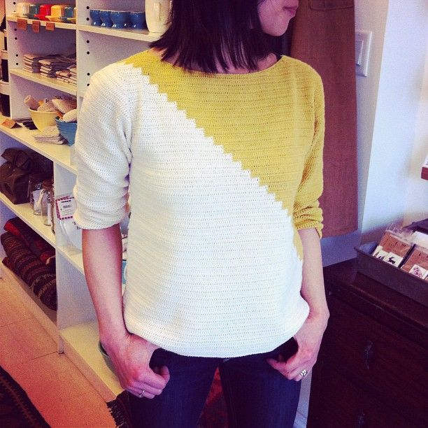 A sweater to live in. Love the mustard yellow. Lauren Moffatt Fall 2013.