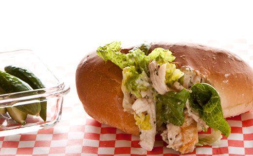 Epicure's Stuffed Caesar Salad Bunwich
