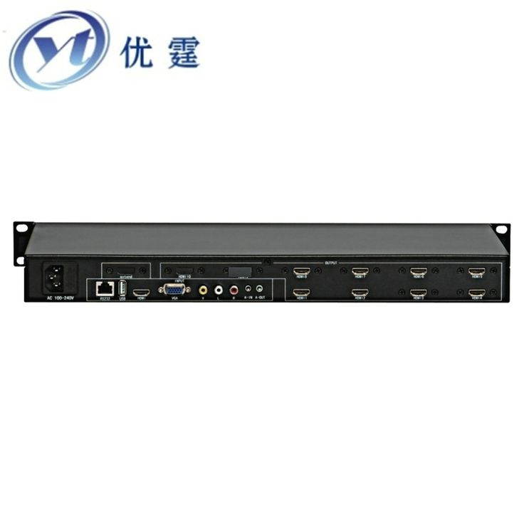 986.00$  Know more - http://ai009.worlditems.win/all/product.php?id=32724656882 - YOUTING YT-BOX2X4 Video Wall Controller HDMI VGA AV USB Processor 2x4 or 4X2 eight images stitching image processor 8 TV