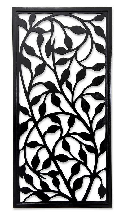 Handcrafted Wood Wall Panel - Midnight Foliage | NOVICA