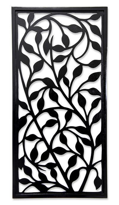 Handcrafted Wood Wall Panel - Midnight Foliage | NOVICA