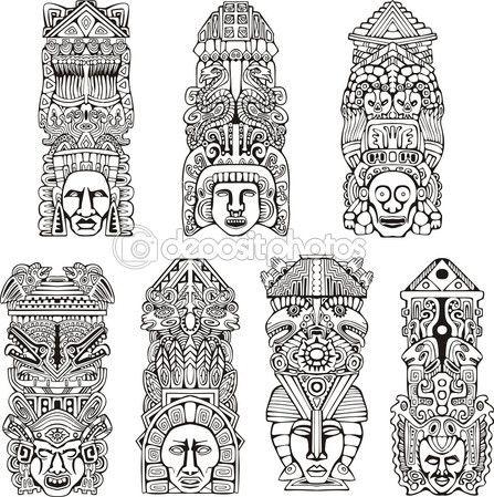 Aztec Totempfähle