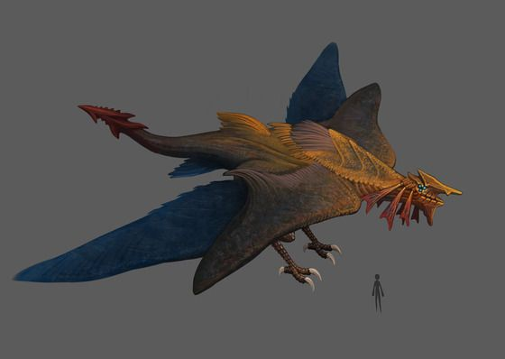 Caelum Rex A Huge Bird Of Prey From The Mountain Biomes Flies In Pairs And Attacks Airplanes